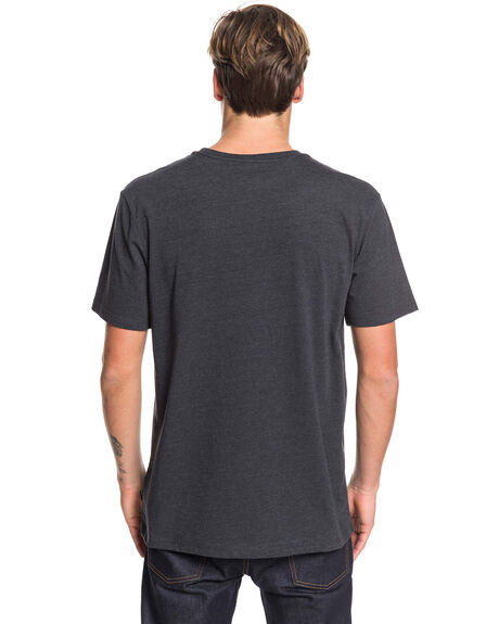 CHARCOAL HEATHER MENS CLOTHING QUIKSILVER TEES - EQYZT05444-KTAH