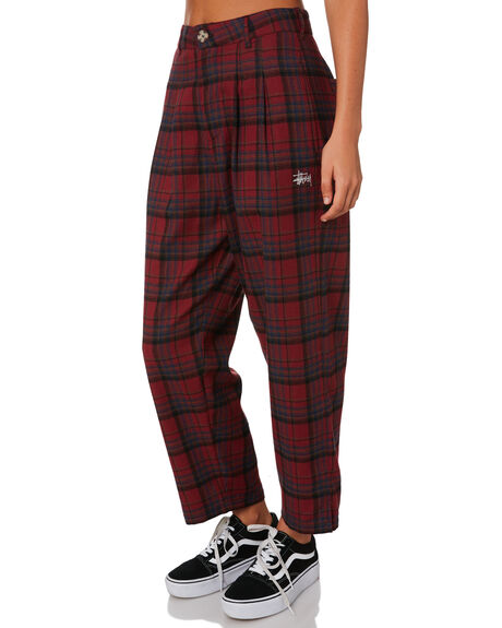 RED WOMENS CLOTHING STUSSY PANTS - ST196624RED