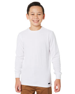 WHITE KIDS BOYS ACADEMY BRAND JUMPERS + JACKETS - BBA700WHT