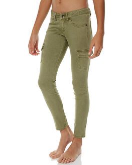 OIL GREEN KIDS GIRLS ROXY PANTS - ERGNP03017GLD0