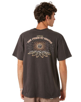 CHARCOAL MENS CLOTHING RHYTHM TEES - JAN20M-PT11-CHA