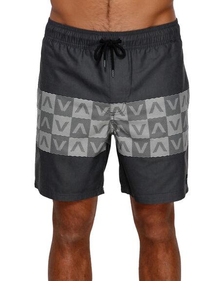 BLACK MENS CLOTHING RVCA BOARDSHORTS - R391409BLK