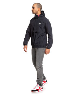 BLACK MENS CLOTHING DC SHOES JACKETS - EDYJK03207-KVJ0