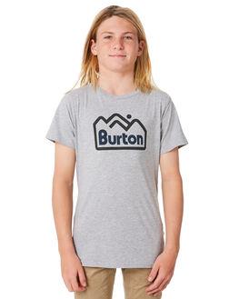 GREY HEATHER KIDS BOYS BURTON TOPS - 196581020