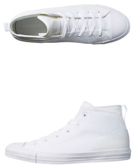 WHITE WHITE MENS FOOTWEAR CONVERSE SNEAKERS - SS155490WHTM