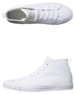 WHITE WHITE WOMENS FOOTWEAR CONVERSE SNEAKERS - SS155490WHTW