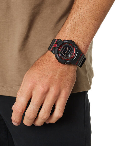 BLACK RED MENS ACCESSORIES G SHOCK WATCHES - GBD800-1DBLKRE
