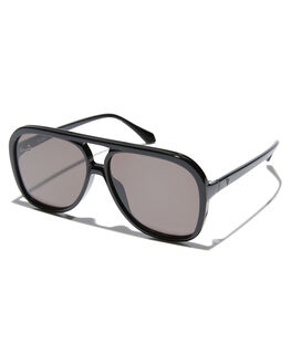 GLOSS BLACK WOMENS ACCESSORIES VALLEY SUNGLASSES - S0491GBLK