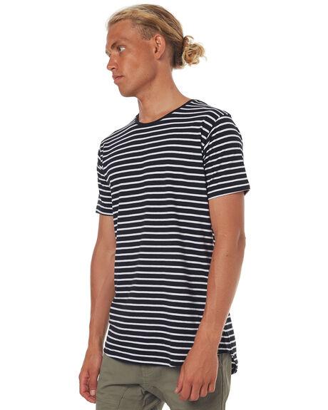 BLACK WHITE MENS CLOTHING SILENT THEORY TEES - 4085000STR