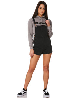 FADED BLACK WOMENS CLOTHING AFENDS PLAYSUITS + OVERALLS - 51-02-084FBLK
