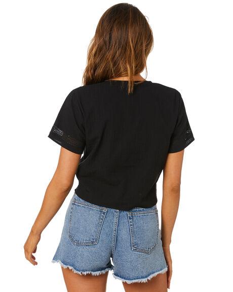 BLACK WOMENS CLOTHING RUSTY FASHION TOPS - WSL0690-BLK