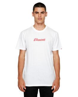 WHITE MENS CLOTHING ELEMENT TEES - EL-193012-WHT