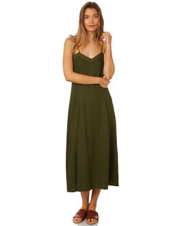 MUSTANG GREEN WOMENS CLOTHING RUE STIIC DRESSES - SA19-22-MG