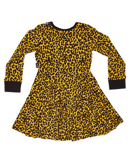 YELLOW KIDS GIRLS ROCK YOUR KID DRESSES + PLAYSUITS - TGD1959-LSYEL