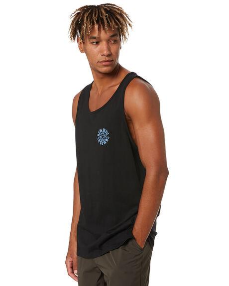 BLACK MENS CLOTHING RPM SINGLETS - 20SM09A1BLK