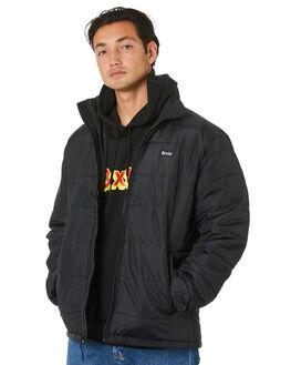 BLACK BLACK MENS CLOTHING BRIXTON JACKETS - 03250BKBLK