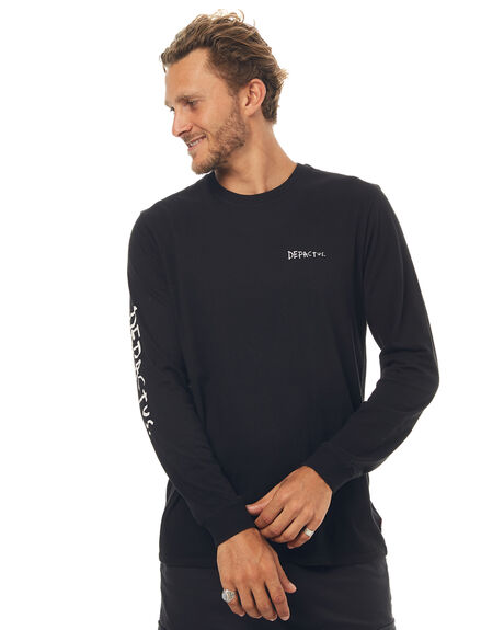 BLACK MENS CLOTHING DEPACTUS TEES - D5171100BLACK