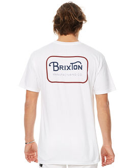 WHITE MENS CLOTHING BRIXTON TEES - 06251WHT