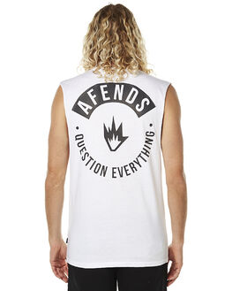 WHITE MENS CLOTHING AFENDS SINGLETS - 01-05-106WHT