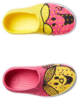 YELLOW PINK OUTLET KIDS NATIVE FOOTWEAR - 13104601-8562