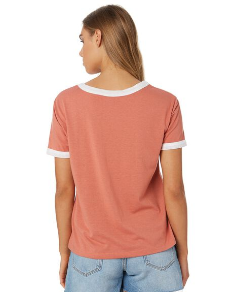 DUSTY ROSE WOMENS CLOTHING RIP CURL TEES - GTECS20577