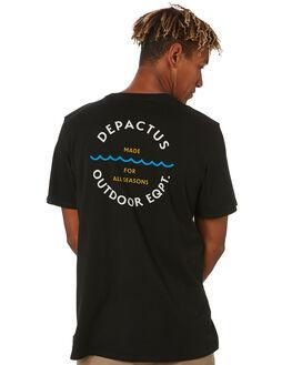 BLACK MENS CLOTHING DEPACTUS TEES - D5203001BLACK