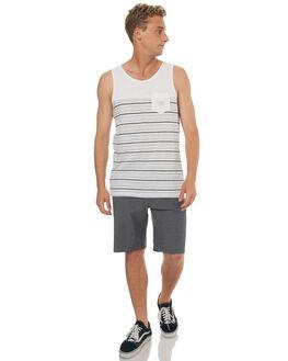WHITE MENS CLOTHING QUIKSILVER SINGLETS - EQYKT03596WBB4