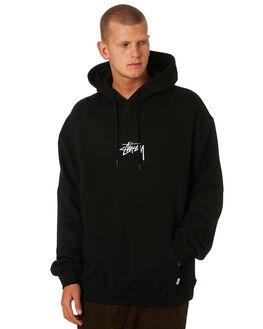 BLACK MENS CLOTHING STUSSY JUMPERS - ST095202BLACK