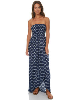 NAVY BLUE WOMENS CLOTHING RUSTY DRESSES - DRL0876NVB