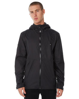 BLACK MENS CLOTHING HUFFER JACKETS - MRJA81J1701BLK