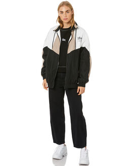 BLACK WOMENS CLOTHING STUSSY JACKETS - ST106706BLK