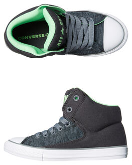 ALMOST BLACK GREY KIDS BOYS CONVERSE SNEAKERS - 660766BLK