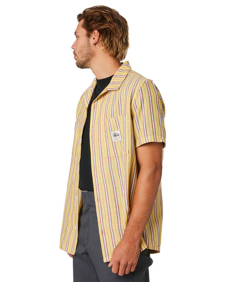 YELLOW MENS CLOTHING STUSSY SHIRTS - ST093401YEL