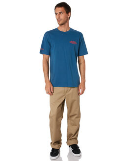 PRUSSIAN BLUE RED MENS CLOTHING CARHARTT TEES - I02709905I