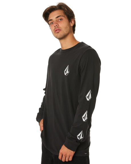 BLACK MENS CLOTHING VOLCOM TEES - A3631971BLK