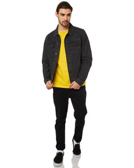BLACK MENS CLOTHING AFENDS JACKETS - M183580BLK