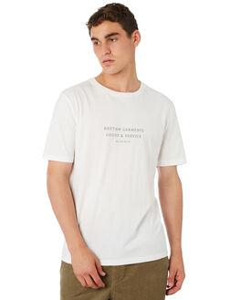 WHITE MENS CLOTHING RHYTHM TEES - OCT18M-PT03-WHT