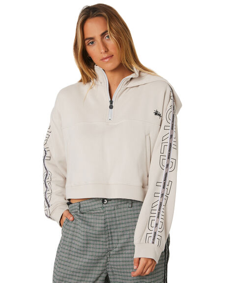 WHITE SAND WOMENS CLOTHING STUSSY JUMPERS - ST196328WHI