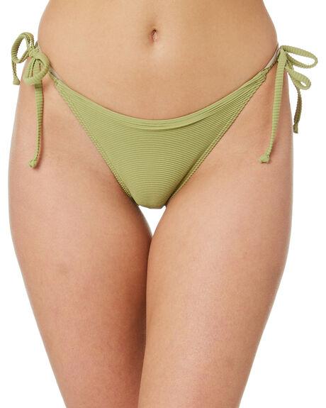 ALOE GREEN WOMENS SWIMWEAR SWELL BIKINI BOTTOMS - S8211336ALOGN