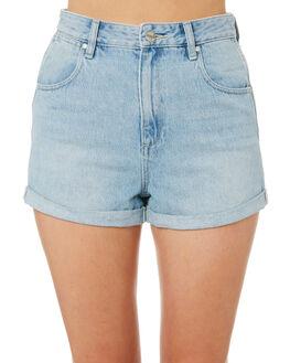 FADED BLUE WOMENS CLOTHING WRANGLER SHORTS - W-951281-729