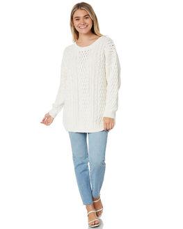BRIGHT WHITE WOMENS CLOTHING RUSTY KNITS + CARDIGANS - CKL0383BTW
