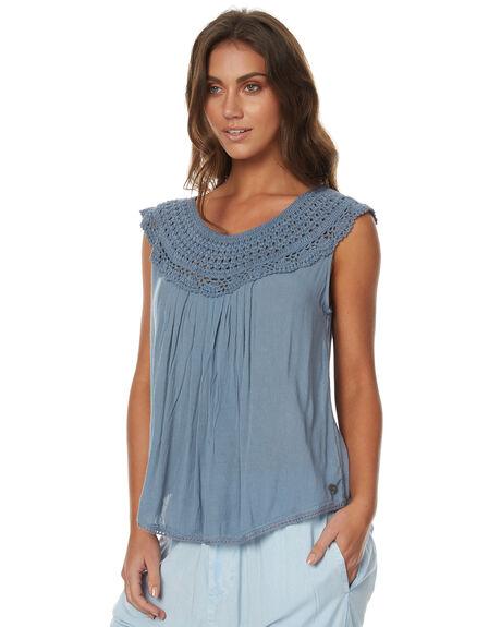 DUSTY BLUE WOMENS CLOTHING RIP CURL FASHION TOPS - GSHCY1DUST