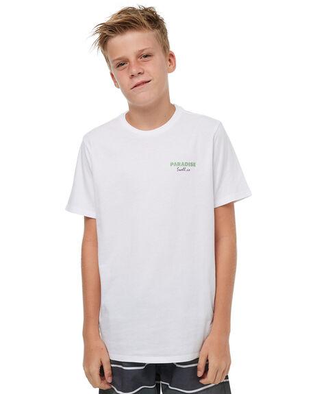WHITE KIDS BOYS SWELL TOPS - S3183002WHITE