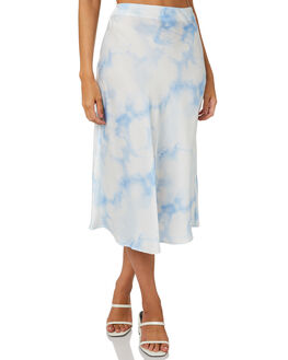 BLUE TIE DYE WOMENS CLOTHING THE FIFTH LABEL SKIRTS - 442001001-1BLTD