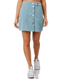 POWDER BLUE WOMENS CLOTHING ELWOOD SKIRTS - W91619-BHX