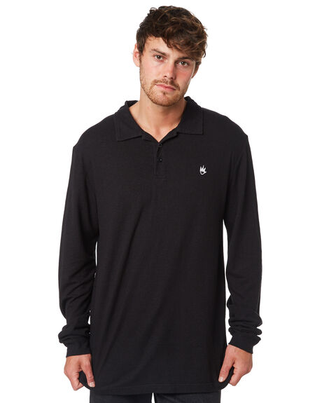 BLACK MENS CLOTHING AFENDS SHIRTS - M191060BLK