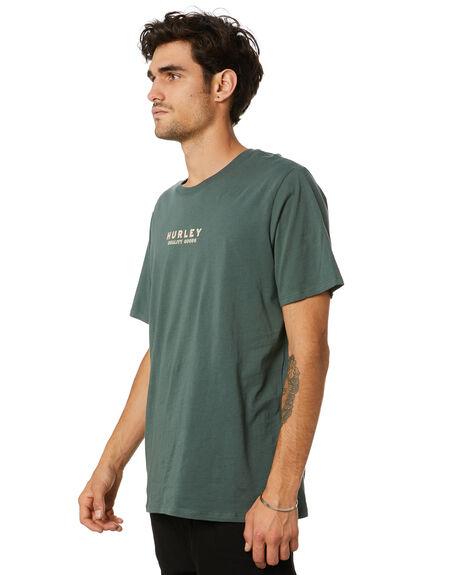 VINTAGE GREEN MENS CLOTHING HURLEY TEES - CU1191345