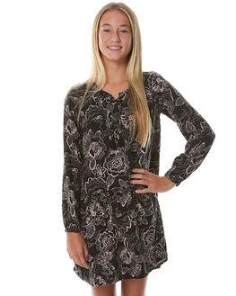 SKETCHY FLORAL PRINT KIDS GIRLS EVES SISTER DRESSES - 9990024PRNT