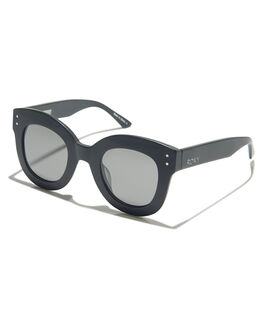 MATTE BLACK GREY WOMENS ACCESSORIES ROXY SUNGLASSES - ERJEY03053XKKS
