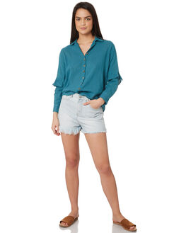 TEAL WOMENS CLOTHING SAINT HELENA FASHION TOPS - SHS19120TTEA